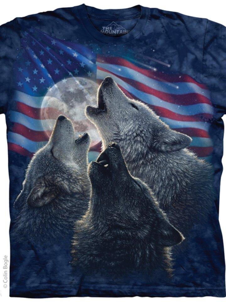 Foto Amerikai farkas triumvirátus póló