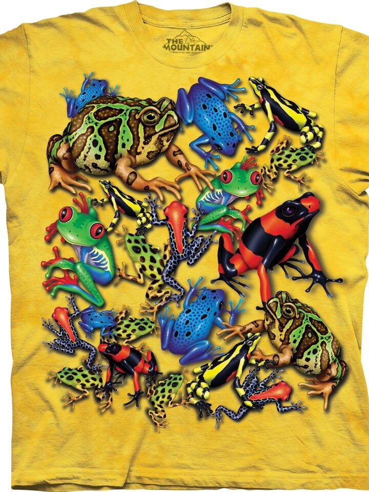 Potešte sa týmto kúskom Dedoles Tričko Koláž žiab – detské