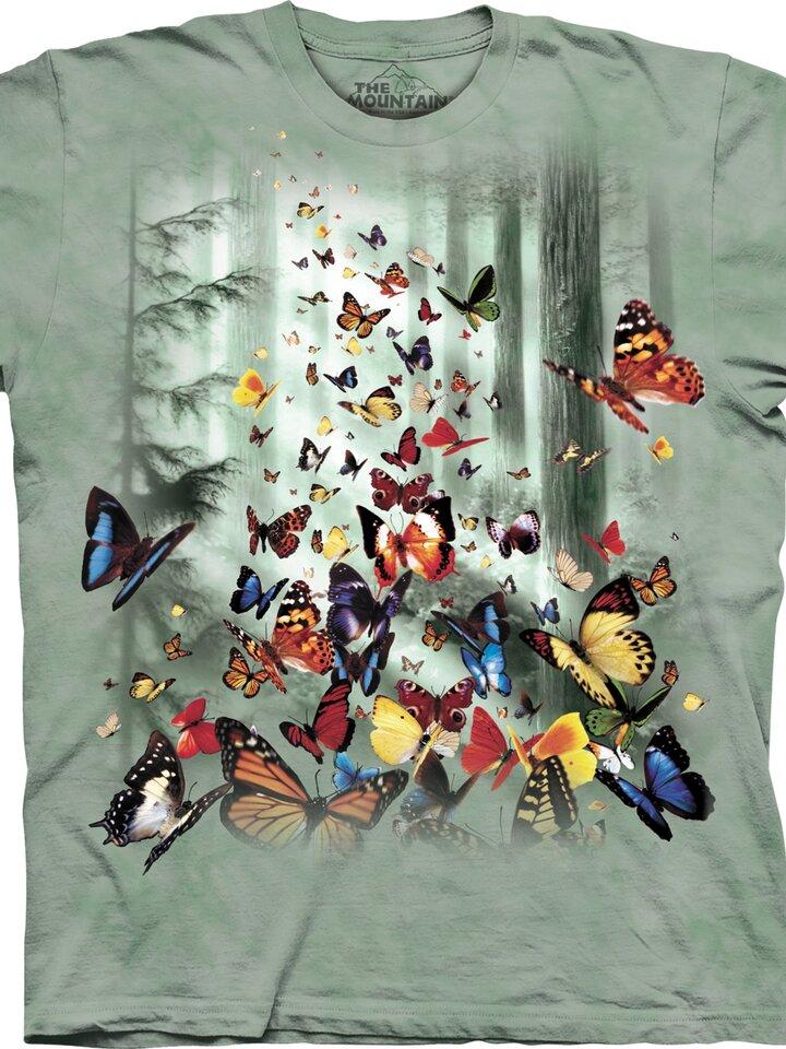 Lifestyle-Foto T-Shirt Schmetterlinge