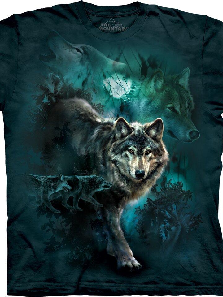 Potešte sa týmto kúskom Dedoles Night Wolves Collage