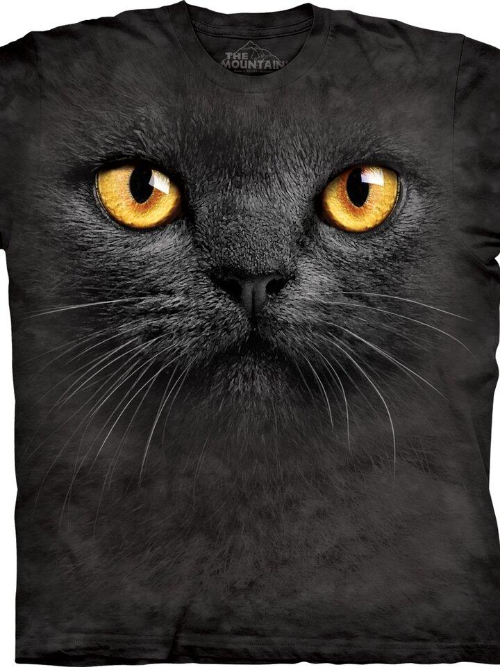 Potěšte se tímto kouskem Dedoles Tričko Obličej černé kočky - dětské