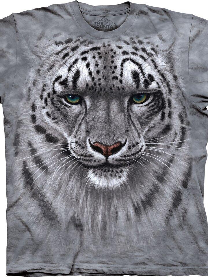 Výjimečný dárek od Dedoles Tričko Obličej sněžného leoparda - dětské