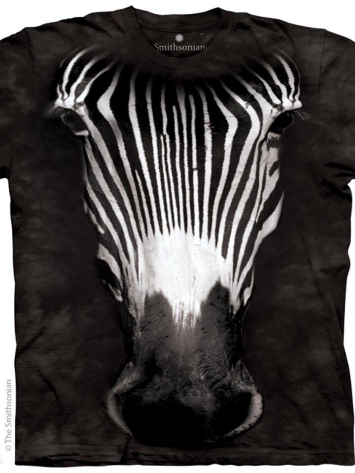 Lifestyle foto Tričko Veľká tvár zebry - detské