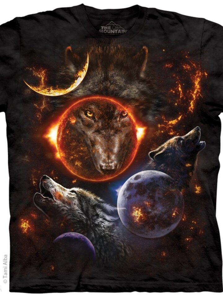 für ein vollkommenes und originelles Outfit T-Shirt Kosmische Wölfe