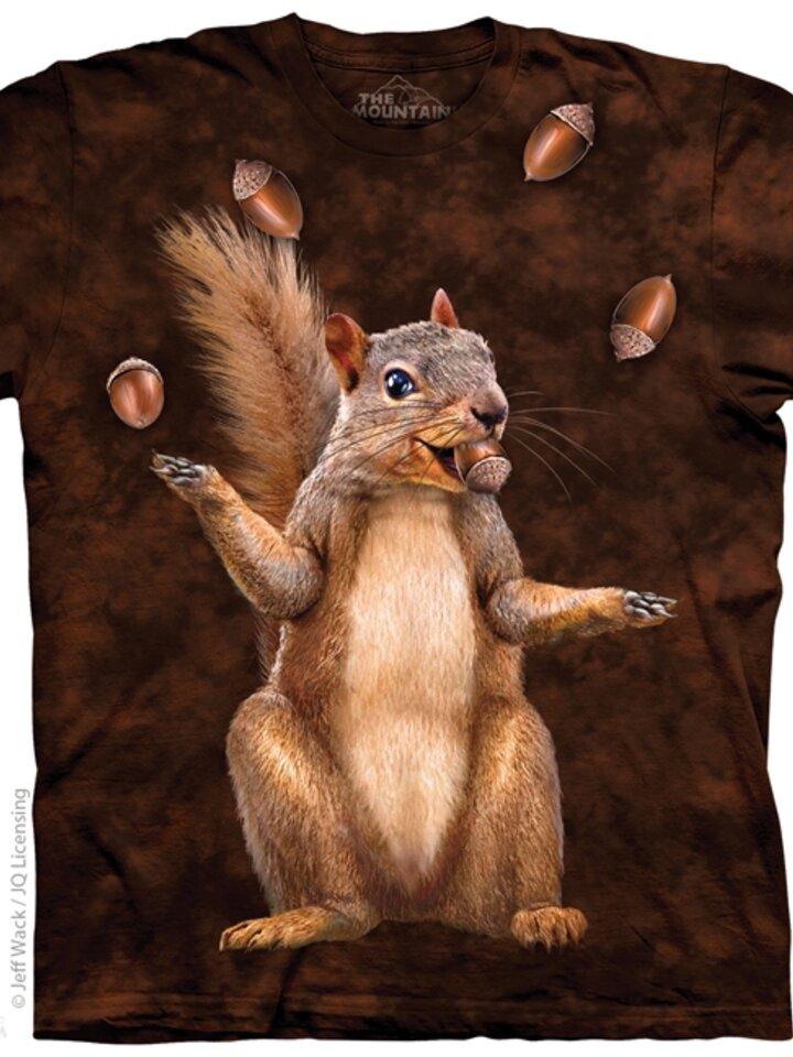 Geschenktipp T-Shirt Eichhörnchen mit Nüssen