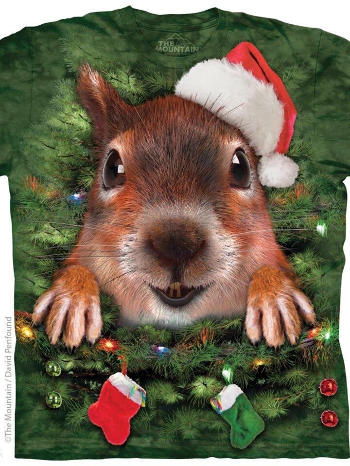 Foto Tričko Vánoční veverka