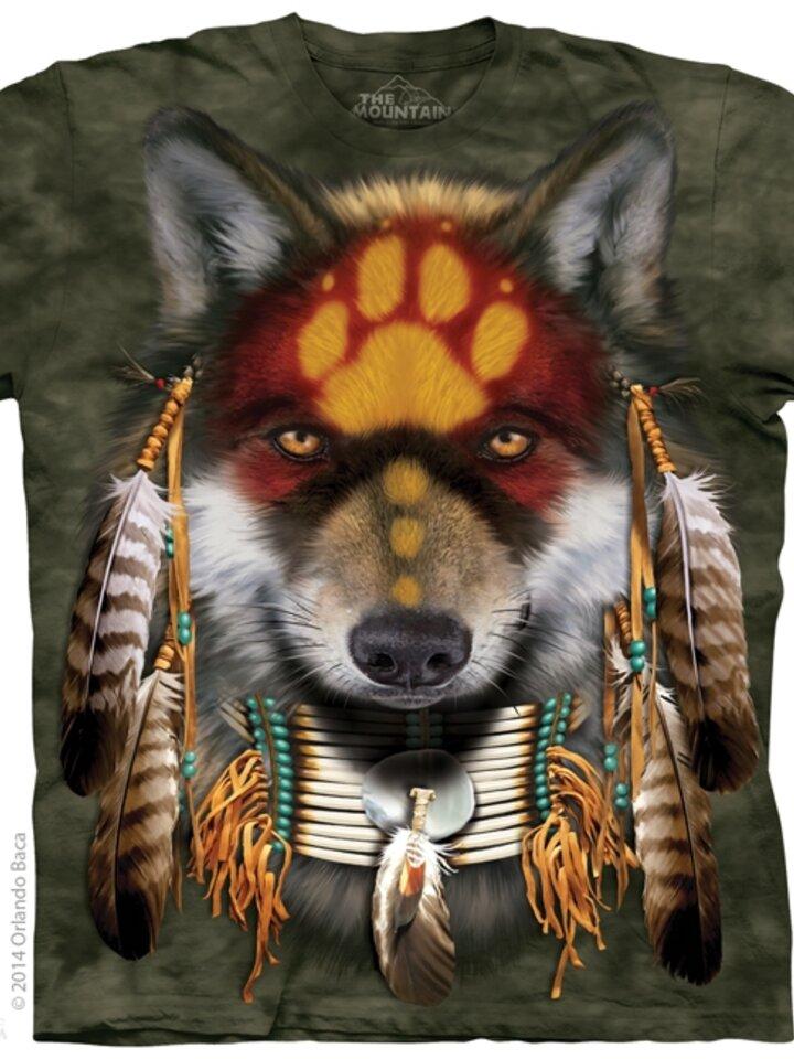 Tip na darček Tričko Vlk Indián