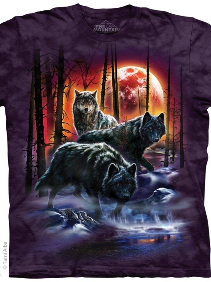 Potešte sa týmto kúskom Dedoles Tričko Vlky s ohňom a ľadom