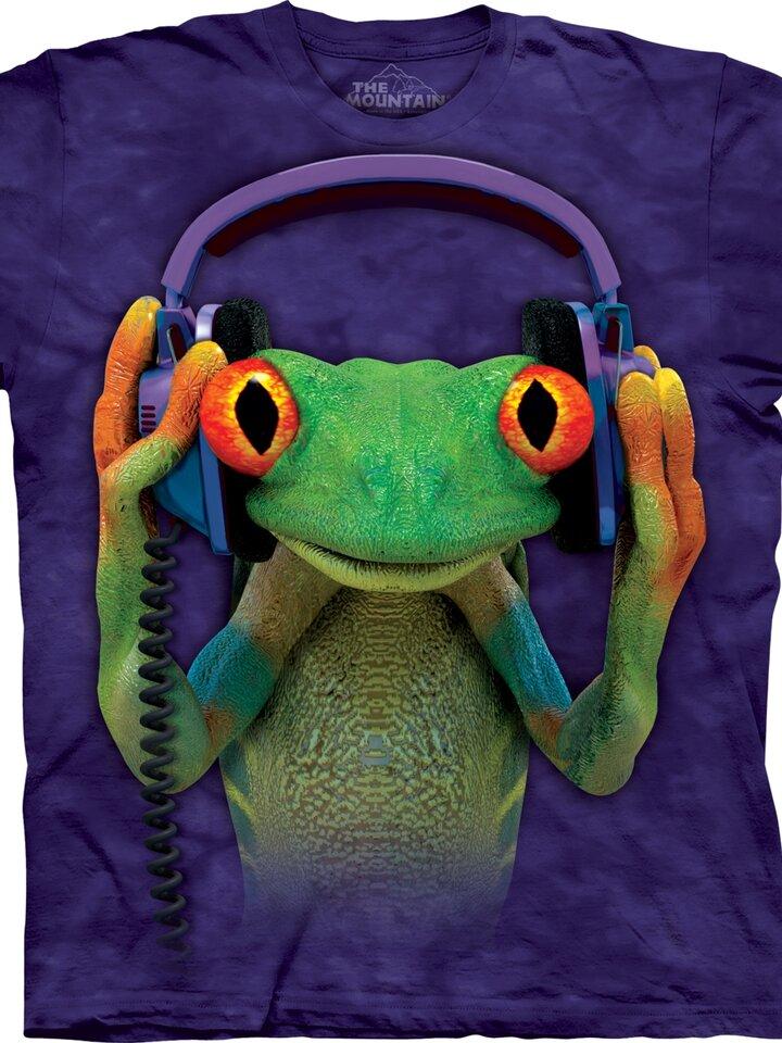 Hľadáte originálny a nezvyčajný darček? Obdarovaného zaručene prekvapí Tričko žaba so slúchadlami