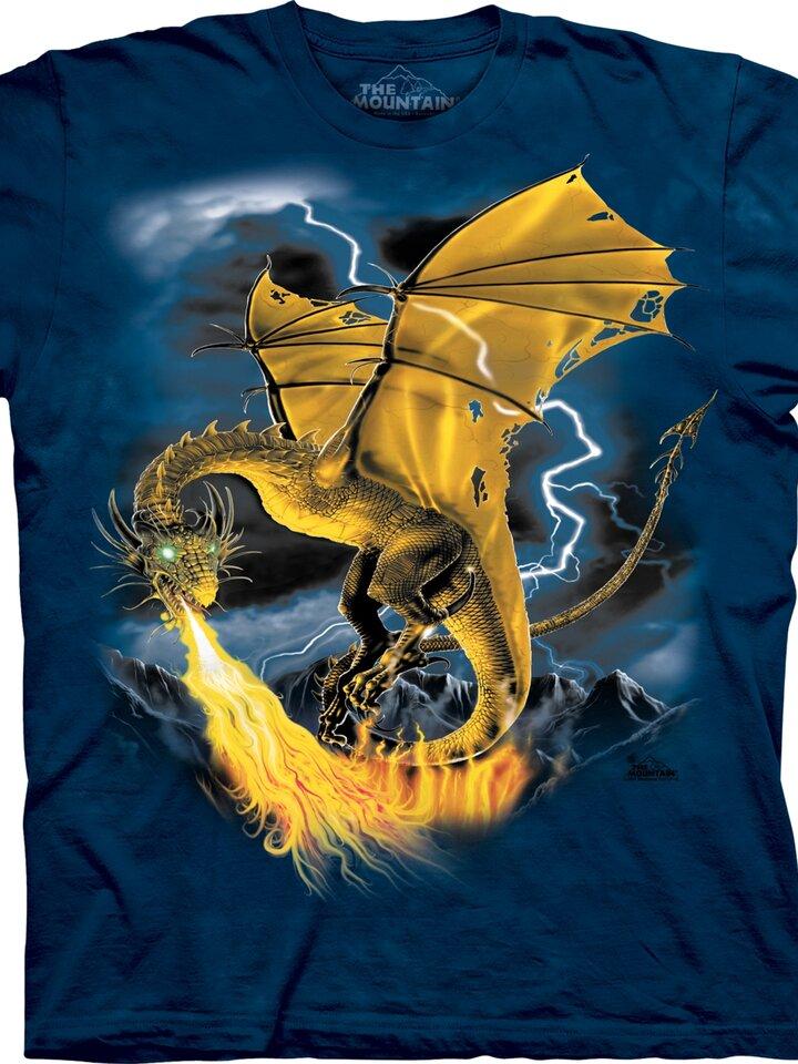 Lifestyle foto Tričko Zlatý drak - detské