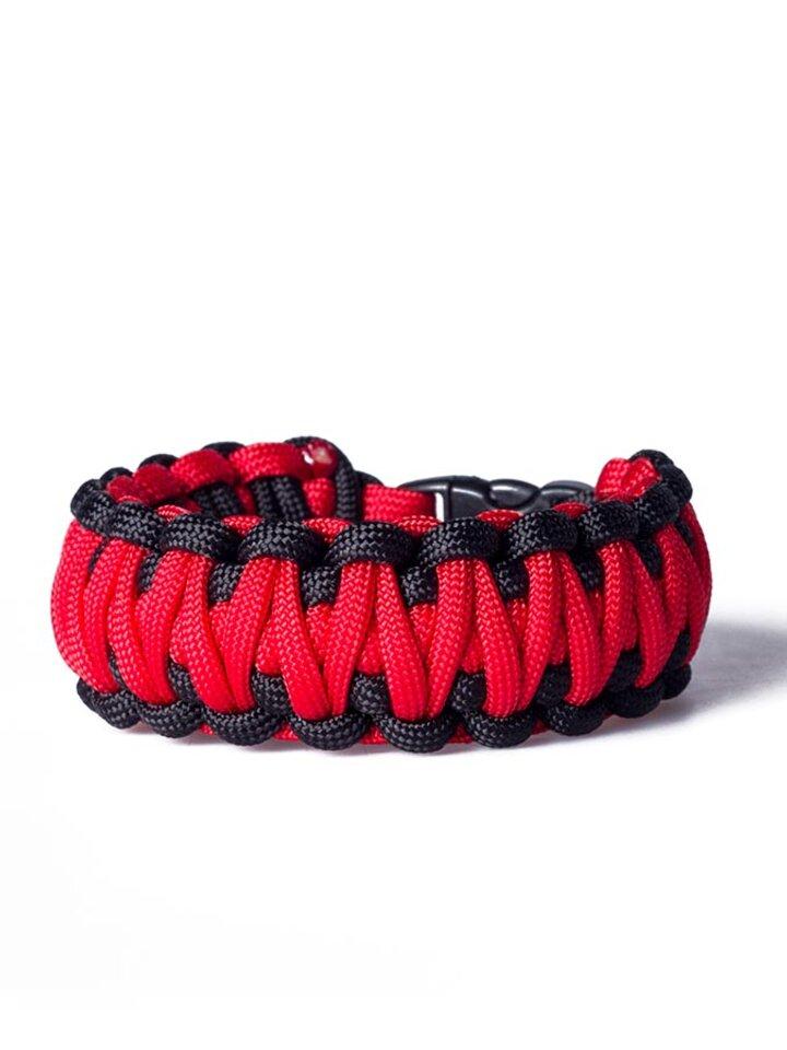 Výnimočný darček od Dedoles Survival náramok - červeno čierny