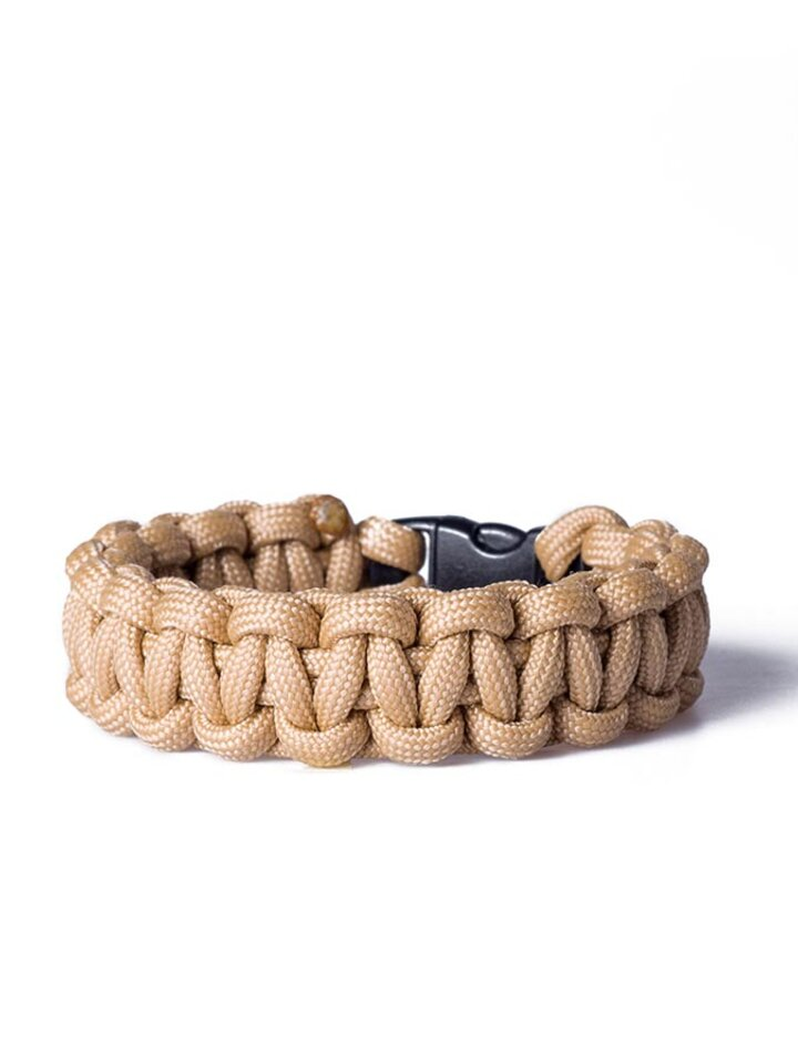 Sale Paracord survival bracelet-sand