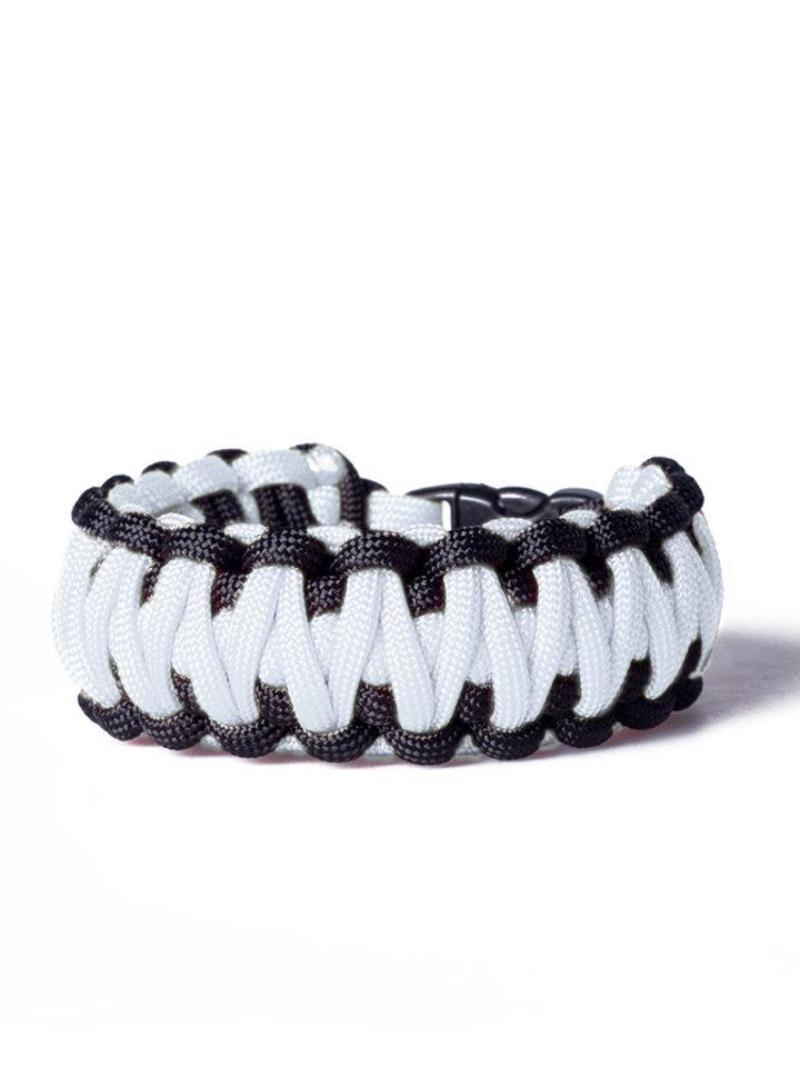 Potěšte se tímto kouskem Dedoles Paracord survival náramek - bílo-černý