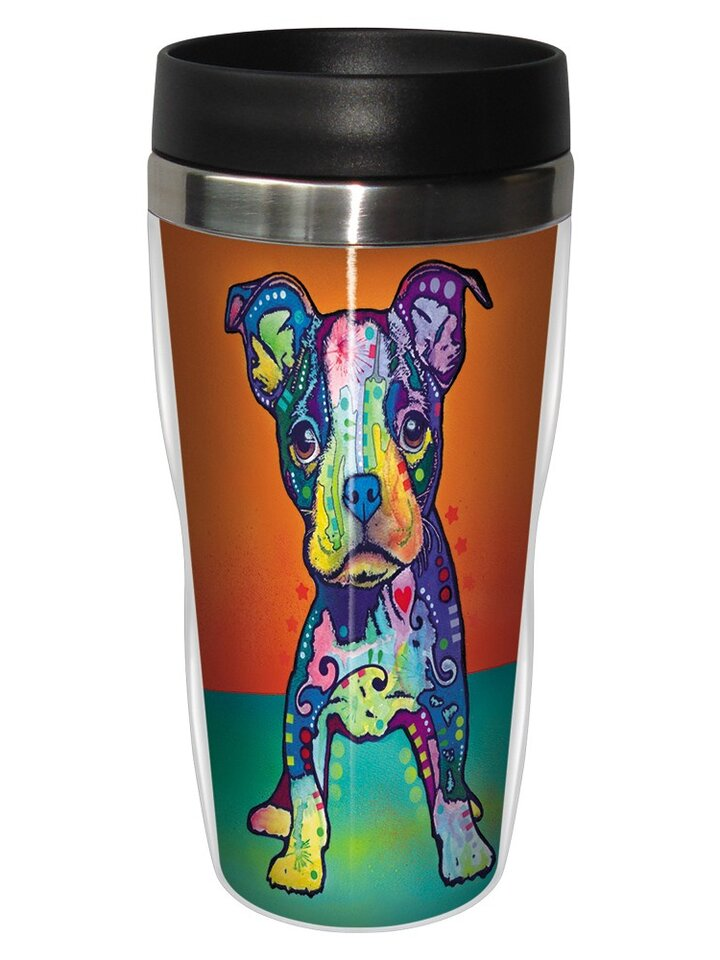 Lifestyle-Foto Thermobecher Russo - Netter Pitbull
