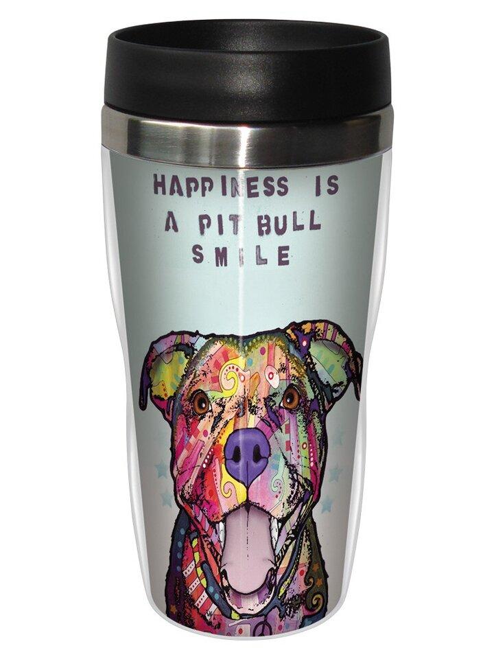 Geschenk von Dedoles Thermobecher Russo - Pit Bull Smile