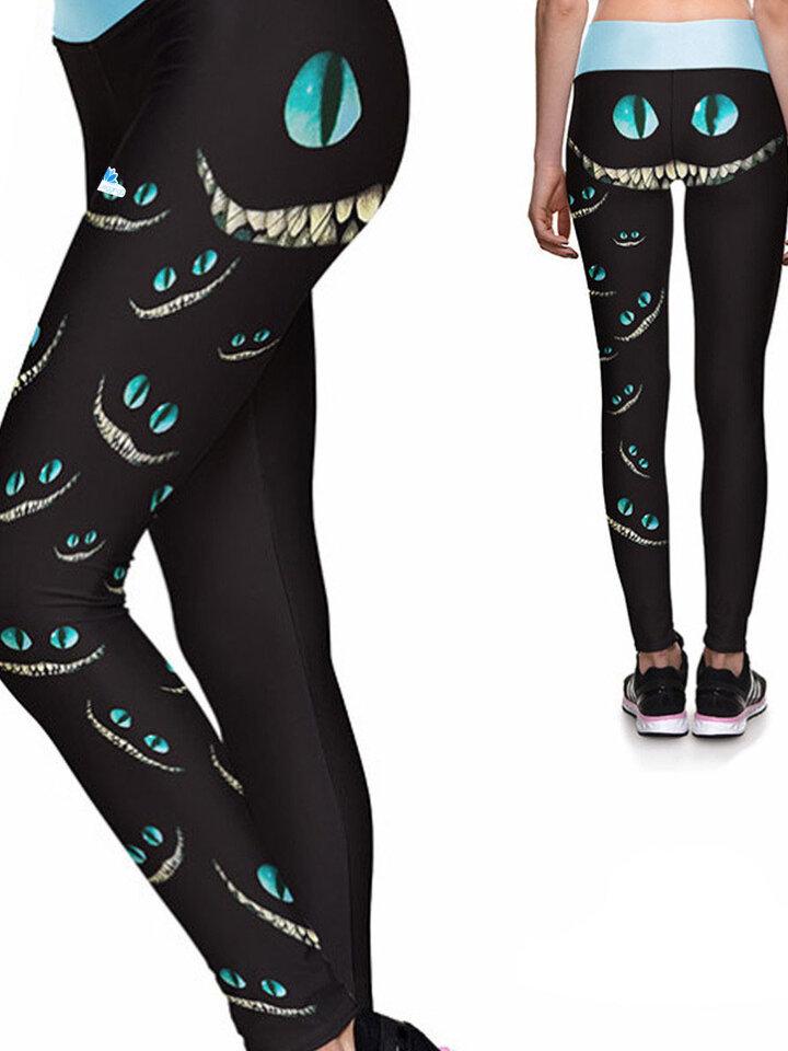 Tip na darček Ženske športne elastične pajkice Mačji nasmeh