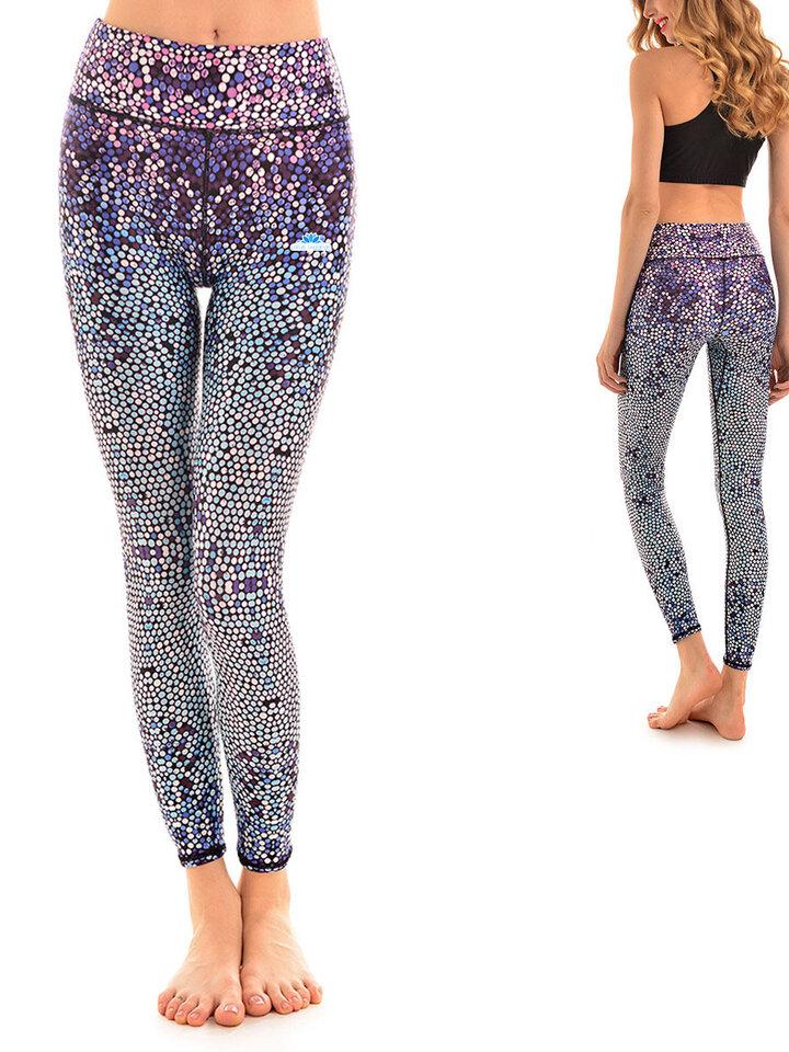 Suchen Sie ein originelles und außergewöhliches Geschenk? überrascht den Beschenkten sicher Damen Sport Leggings Elastisch Mosaik