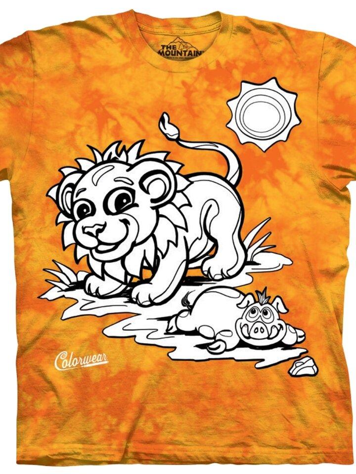 Gift idea Kids Colorwear T-shirt Lion - yellow and orange