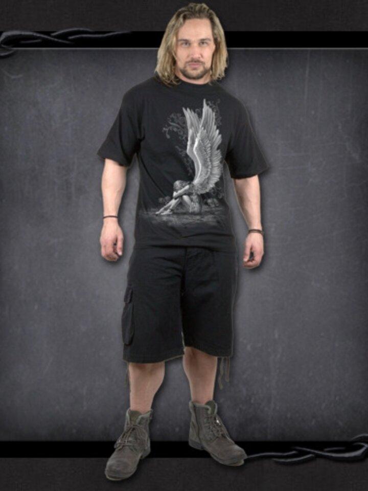 Lifestyle foto Čierne tričko Krídla anjela