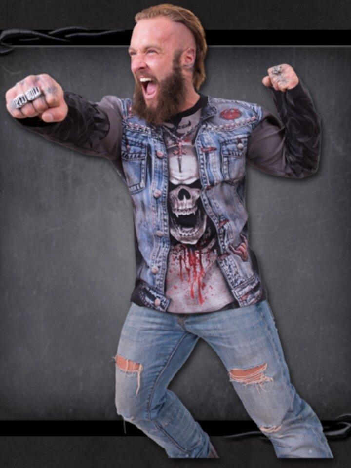 Ausverkauf T-Shirt Langarm Jeansweste