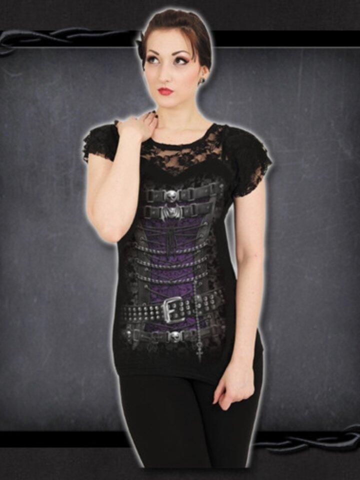 Kiárusítás Korzet csipkés női póló