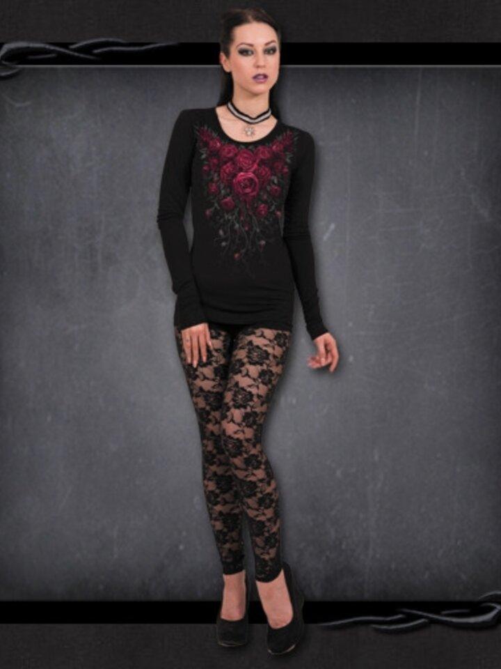 für ein vollkommenes und originelles Outfit Damen T-Shirt Blutige Rosen