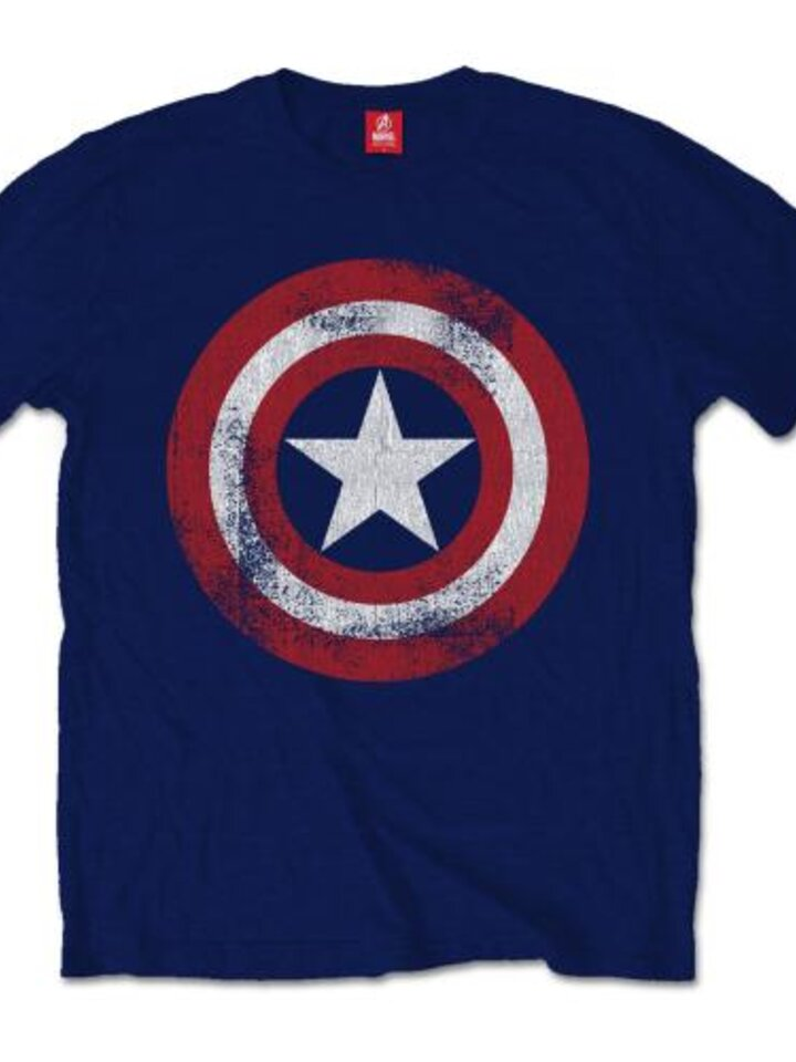 Tip na darček Tričko Marvel Comics Captain America Distressed Shield