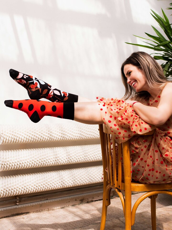 Looking for an original and unusual gift? The gifted person will surely surprise with Regular Socks Ladybug
