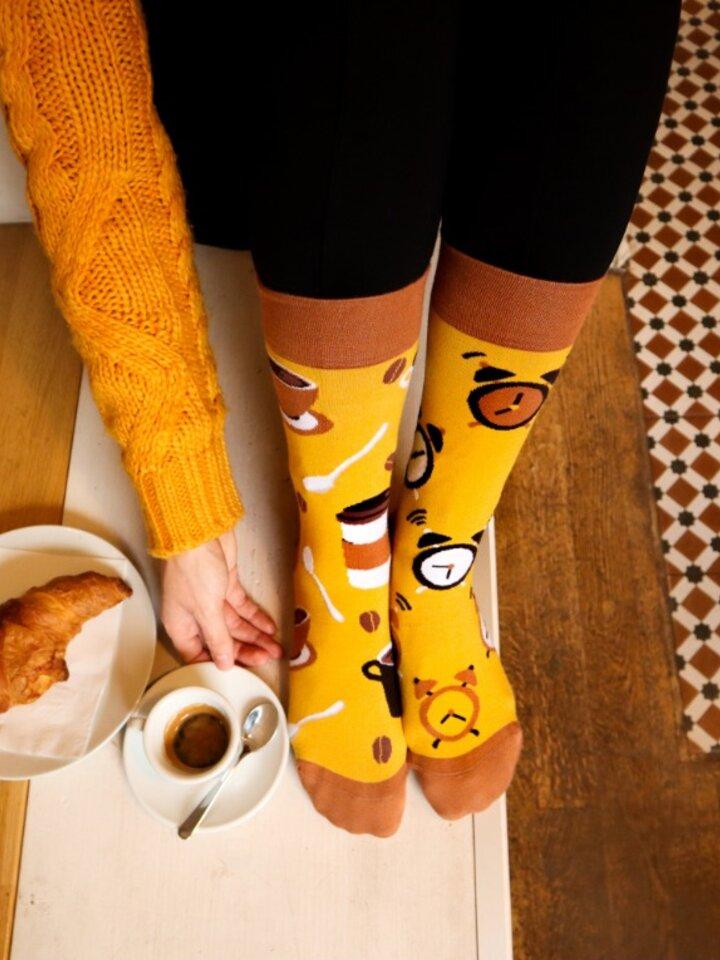 Tip na darček Vrolijke sokken Koffie tijd
