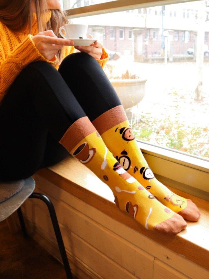 Obrázok produktu Vrolijke sokken Koffie tijd