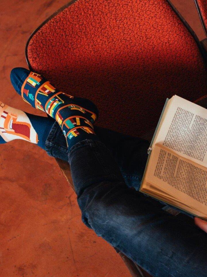 Výnimočný darček od Dedoles Vrolijke sokken Bibliotheek