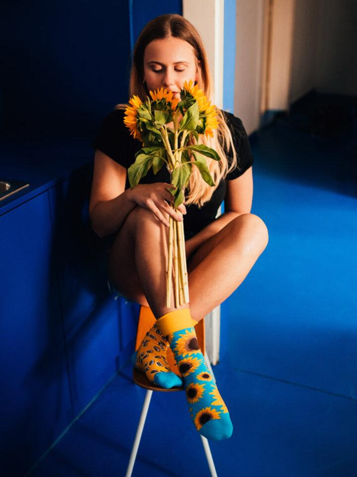 Potešte sa týmto kúskom Dedoles Veselé ponožky Slnečnica