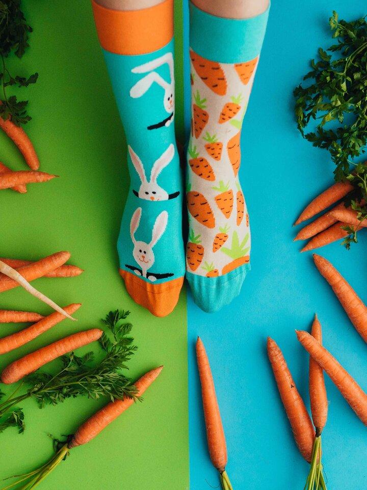 Pre dokonalý a originálny outfit Vrolijke sokken Konijn en wortel