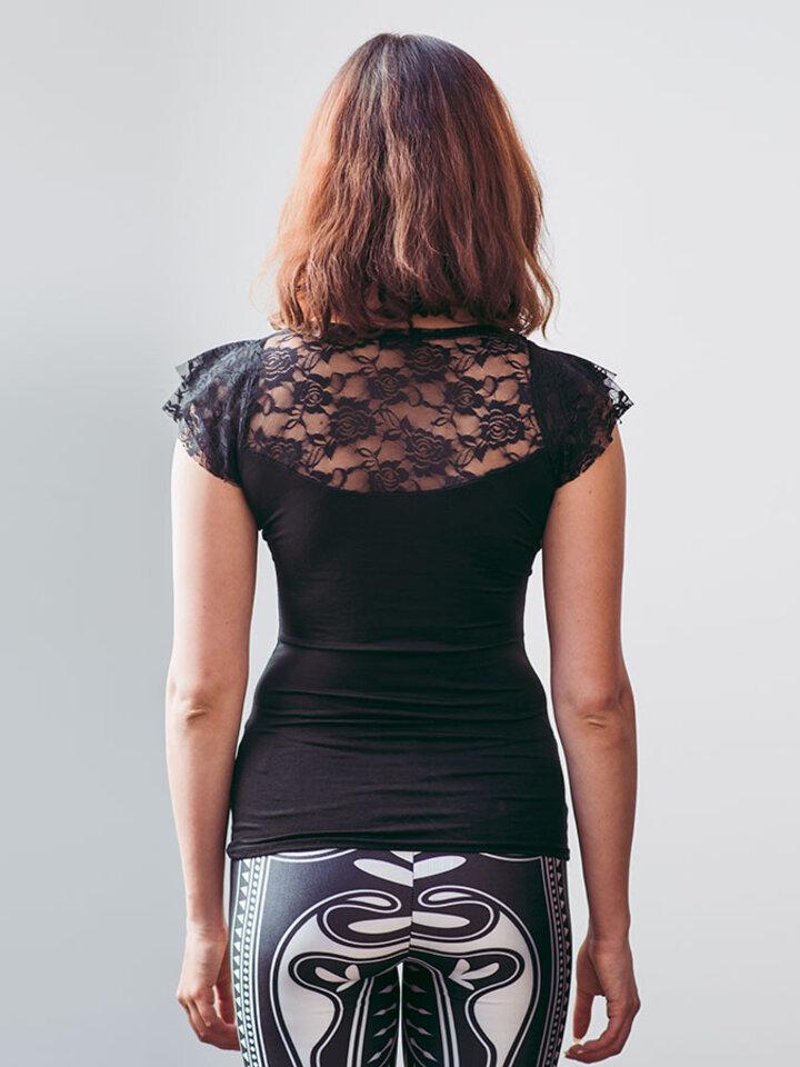 Foto Korzet csipkés női póló