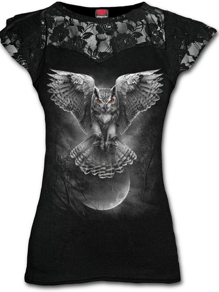 Potešte sa týmto kúskom Dedoles Dámske tričko s čipkou Sovie krídla