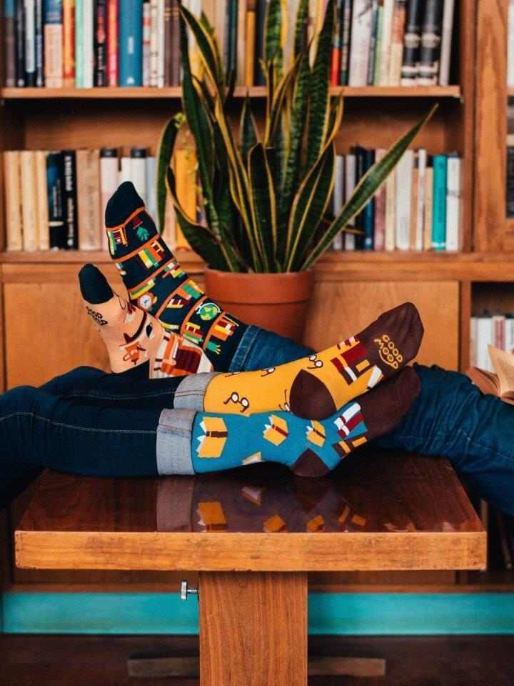 Tip na darček Vrolijke sokken Bibliotheek