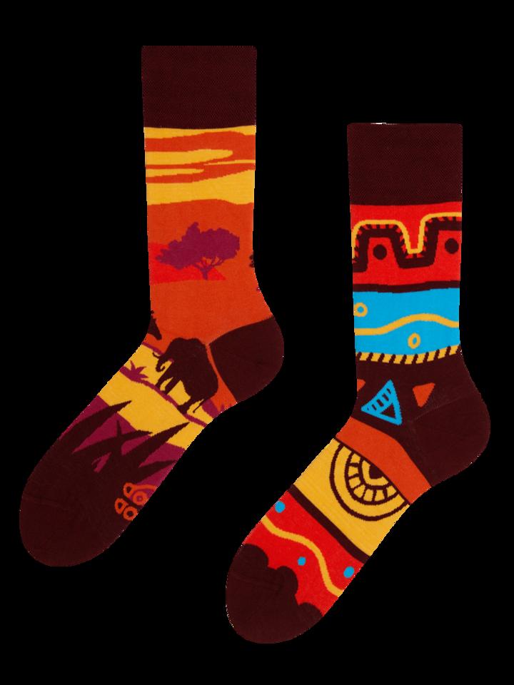 Hledáte originální a neobvyklý dárek? Obdarovaného zaručeně překvapí Veselé ponožky Afrika