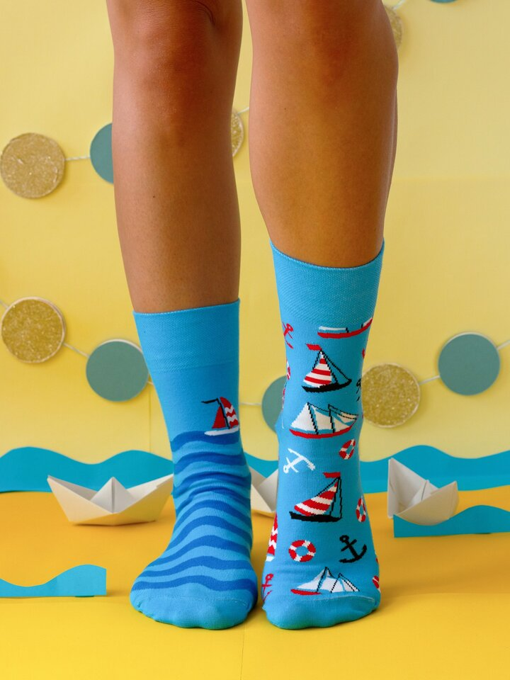 Foto Veselé ponožky Plachtění