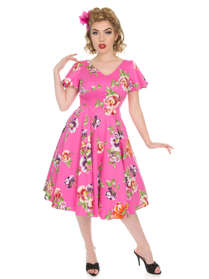 Bereiten Sie sich Freude mit diesem Dedoles-Stück Vintage Pin Up Kleid Ich liebe Swing