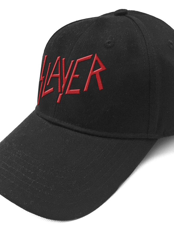 Lifestyle foto Čierna šiltovka Slayer Logo Červené