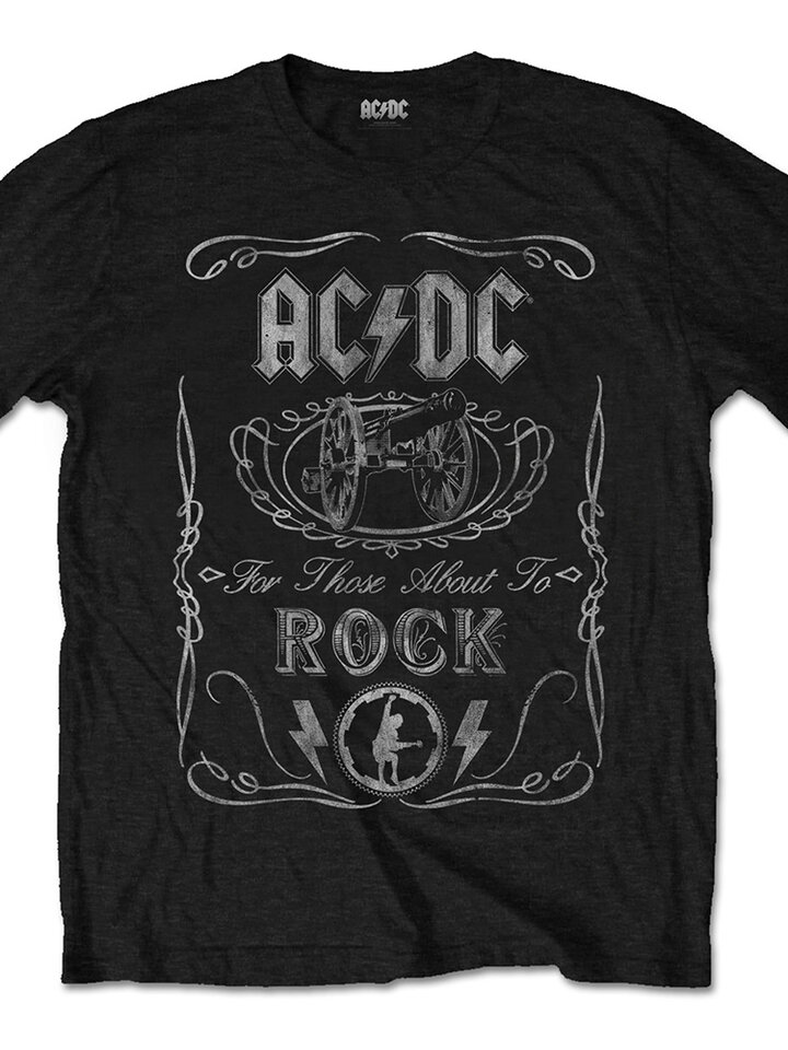 Ausverkauf T-Shirt AC/DC Cannon Swig Vintage