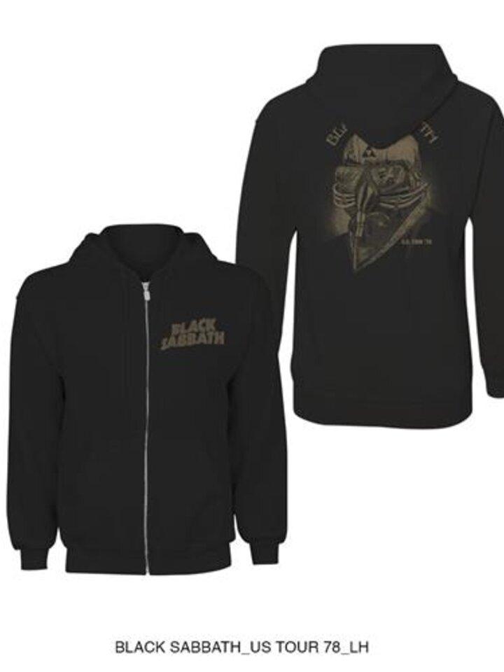 Geschenktipp Sweatshirt mit Reißverschluss Schwarz Black Sabbath Tour 1978