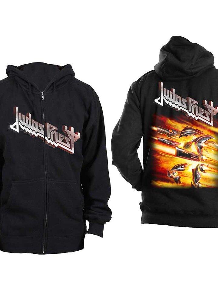 Obrázok produktu Crna dukserica s patentom Judas Priest Firepower
