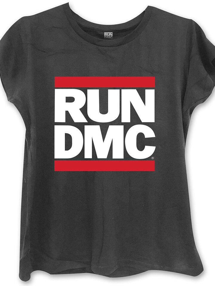 Foto Damen T-Shirt Schwarz  Run DMC Logo