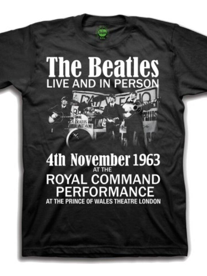 Obrázok produktu Черна детска тениска The Beatles Live & in Person