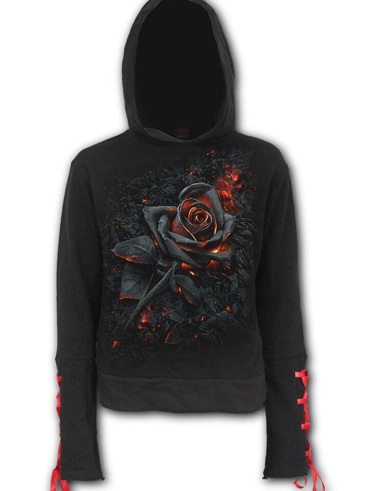 Tip na darček Dámska mikina s kapucňou Ohnivá ruža