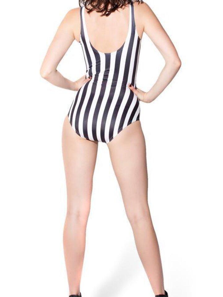 Foto Damen Badeanzug gestreift