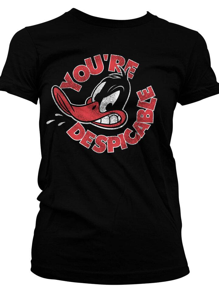 Pre dokonalý a originálny outfit Ženska majica Daffy Duck You are Despicable