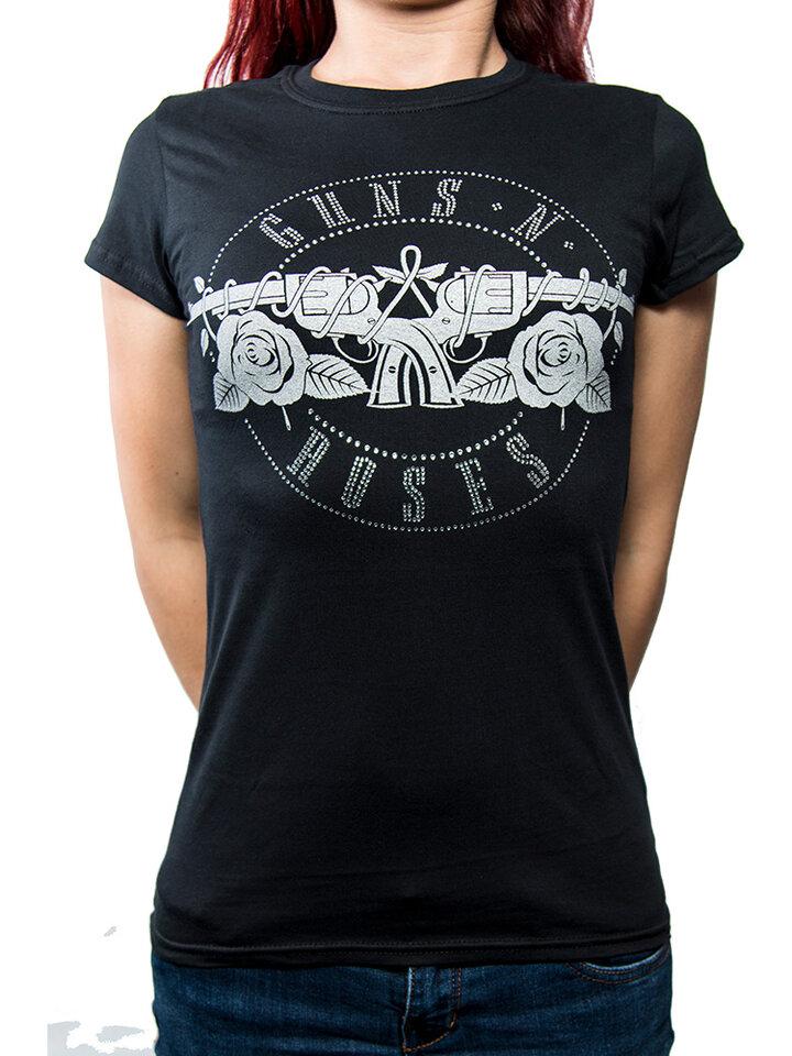 Zľava Dámske tričko Guns N' Roses Circle Logo