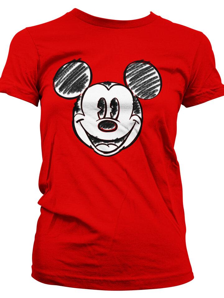 Výnimočný darček od Dedoles Ženska majica Nacrtana glava Mickey Mouse